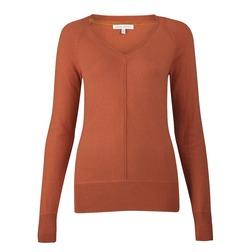 Яркий оранжевый пуловер приталенного кроя JP 770