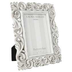 Красивая рамка для фото с завитками белого цвета ORNATE SCROLL 22,5*18 (White)