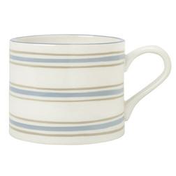 Широкая керамическая чашка в тонкую горизонтальную полоску SOUTHSEA STRIPE PETITE (Seaspray)