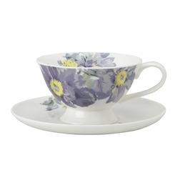Фарфоровая чашка с блюдцем PEONY GARDEN CUP & SAUCER (Amethyst)