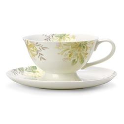 Чайная чашка с блюдцем и желтым цветком HONEYSUCKLE CUP AND SAUCER (Camomile)