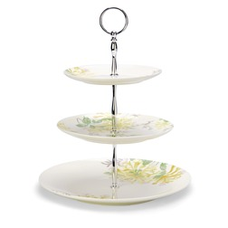 Подставка для фруктов и десертов в желтые цветы HONEYSUCKLE 3 TIER (Camomile)
