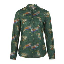 Блуза зеленого цвета BL 297