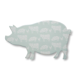 Керамическая подставка для посуды в форме свинки ANIMALS FLORAL PIG PLATTER 36*21*1 (Multi)