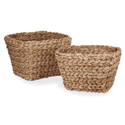 Набор плетеных корзин BANANA BARK SET OF 2 STORAGE BOXES 28*34*45 (Natural)