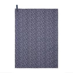 Кухонное полотенце темно-синего цвета с цветочным рисунком SWEET ALLYSUM TEA TOWEL 50*70 (Blue)