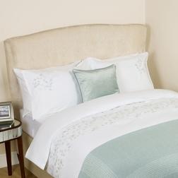 Одинарный набор постели с вышивкой LORNA EMB SG 137*200, 50*75 set of-1 (Duck Egg)