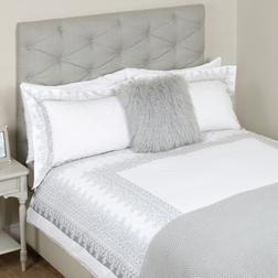 Большой набор постели с рисунком серебристого цвета EDIE KG 230*220, 50*75 set of-2 (Pale Steel)