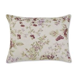 Прямоугольная подушка с вышивкой ягод и цветов BERRIES EMB 40*50 (Copper)