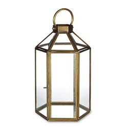 Большой подсвечник в виде фонаря ELLINGTON HEXAGONAL 17*15*31 (Brass)