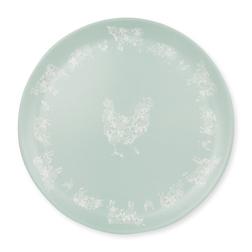 Широкая тарелка из керамики голубого цвета ANIMALS TRAY Ø36 (Multi)