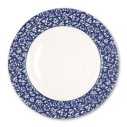 Фарфоровая тарелка темно-синего цвета с цветочным рисунком SWEET ALLYSUM DINNER PLATE Ø26 (Blue)