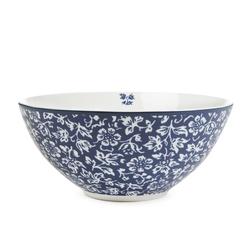 Глубокая тарелка темно-синего цвета с цветочным рисунком SWEET ALLYSUM BOWL 6,5*15 (Blue)