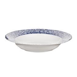 Суповая тарелка темно-синего цвета с цветочным рисунком SWEET ALLYSUM SOUP BOWL Ø22 (Blue)
