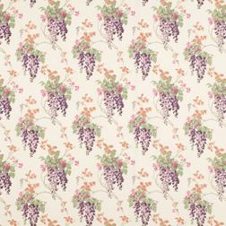 Ткань для штор в фиолетовые цветы WISTERIA (Grape)