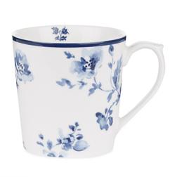 Фарфоровая чашка с цветочным рисунком китайской розы CHINA ROSE 8*9 (Blue)
