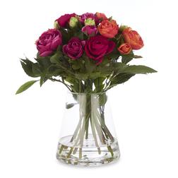Домашний декор – ваза с яркими цветами RANUNCULUS & SWEET BAY 35*28 (Orange)