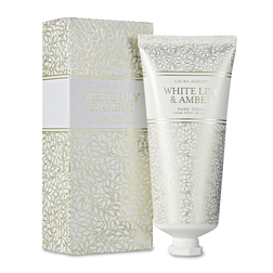 Крем для рук с ароматом лилии и янтаря WHITE LILY & AMBER HAND CREAM 100ml (Amethyst)