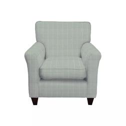 Английское кресло в ткани голубого цвета в клетку PERTH 82*82*90 (Band B/Elmore Check Duck Egg)