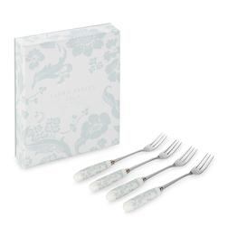 Набор десертных вилок с фарфоровыми ручками LYLA 4*CAKE FORKS L25 (Duck Egg)