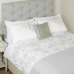 Большой набор постели с вышивкой цветов COLLETTE EMB KG 230*220 (White)