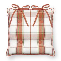 Сидушка для стула в клетку оранжевого цвета AUTUMN CHECK 40*40 (Multi)