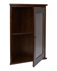 Угловой шкаф небольшого размера GARRAT 1DR CORNER WALL CABINET 78*61*33 (Dark Chestnut)