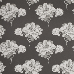 Обои черного цвета с цветочным рисунком HERMIONE (Charcoal)