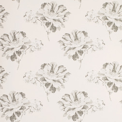 Бумажные обои с цветочным рисунком светло-серого цвета HERMIONE (Off White/Charcoal)