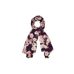 Мягкий шарф из вискозы с принтом в английские розы SH 303 Multi