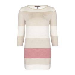 Платье - туника в трехцветную полоску MD 868