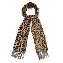 Женский шарф с леопардовым принтом SH 295 Brown