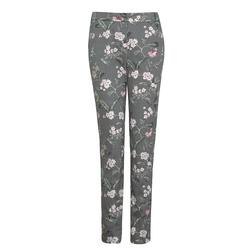 Оригинальные штаны с цветочным принтом TR 535