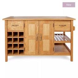 Кухонный комод дубового цвета MILTON KITCHEN ISLAND 90*150*90 (Oak)