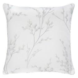 Квадратная подушка с рисунком веточек вербы PUSSY WILLOW 45*45 (Dove Grey)
