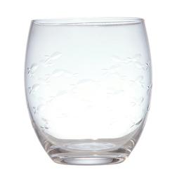 Стеклянный стакан с рисунком рыбок ENGRAVED FISH TUMBLER 10*8 (Clear)