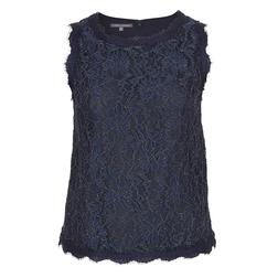 Элегантная блуза без рукавов цвета индиго BL 893