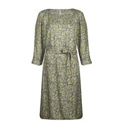 Изысканное платье оливкового цвета с абстрактным рисунком MD 950