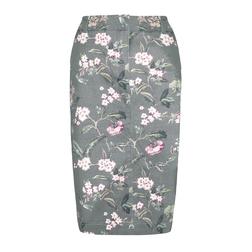 Элегантная юбка серого цвета с цветочным принтом MS 806