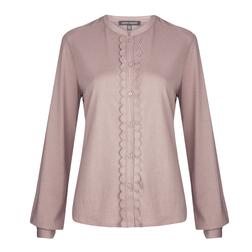 Женственная футболка розового цвета TS 066