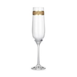 Бокал для шампанского с золотистой полоской GLITTER CHAMPAGNE FLUTE 24,2*6,2 (Gold)