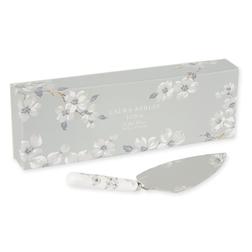 Лопатка для десертов с цветочным рисунком светло-серого цвета IONA CAKE SLICE L15 (Grey)