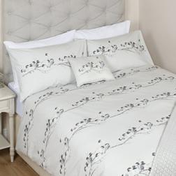 Одинарный набор постели с рисунком синичек WINTER BIRDS SG 137*200, 50*75 set of-1 (Steel)