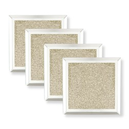 Набор квадратных подставок под чашку GLITTER SET OF 4 COASTERS 10*10 (Gold)