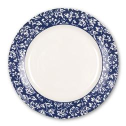 Небольшая тарелка с ободком синего цвета и мелким рисунком SWEET ALLYSUM CAKE PLATE Ø21 (Blue)
