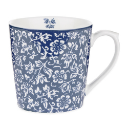Фарфоровая чашка синего цвета со светлым рисунком SWEET ALLYSUM 8*9 (Blue)
