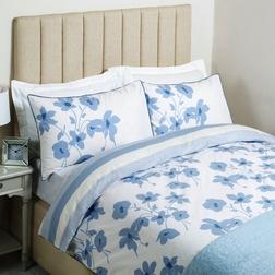 Пододеяльник двойного размера в голубые цветы SIMONE DB 200*200 (Seaspray)