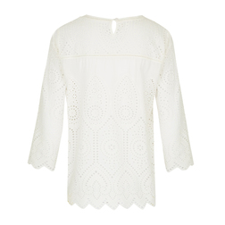 Блуза кремового цвета с перфорацией BL 117