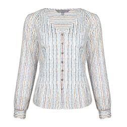 Блуза молочного цвета с принтом цветов BL 343