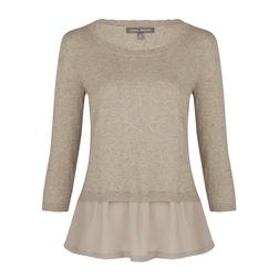 Пуловер с прозрачной вставкой  JP 750